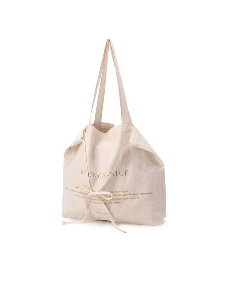 NICE citybag (ivory+gold)