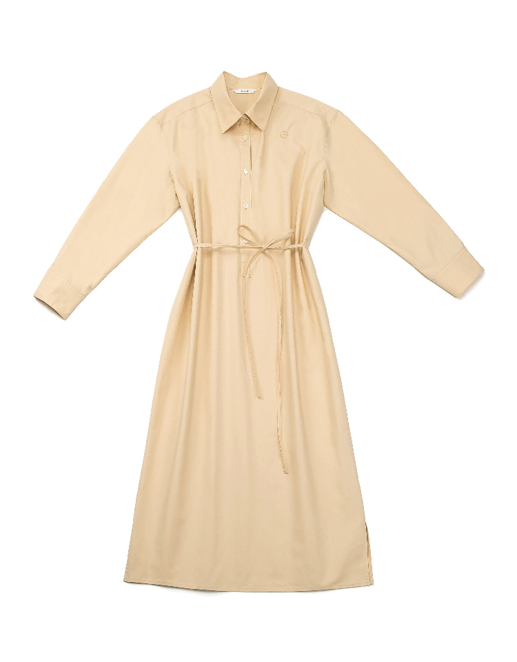 shirtdress (pastel orange)