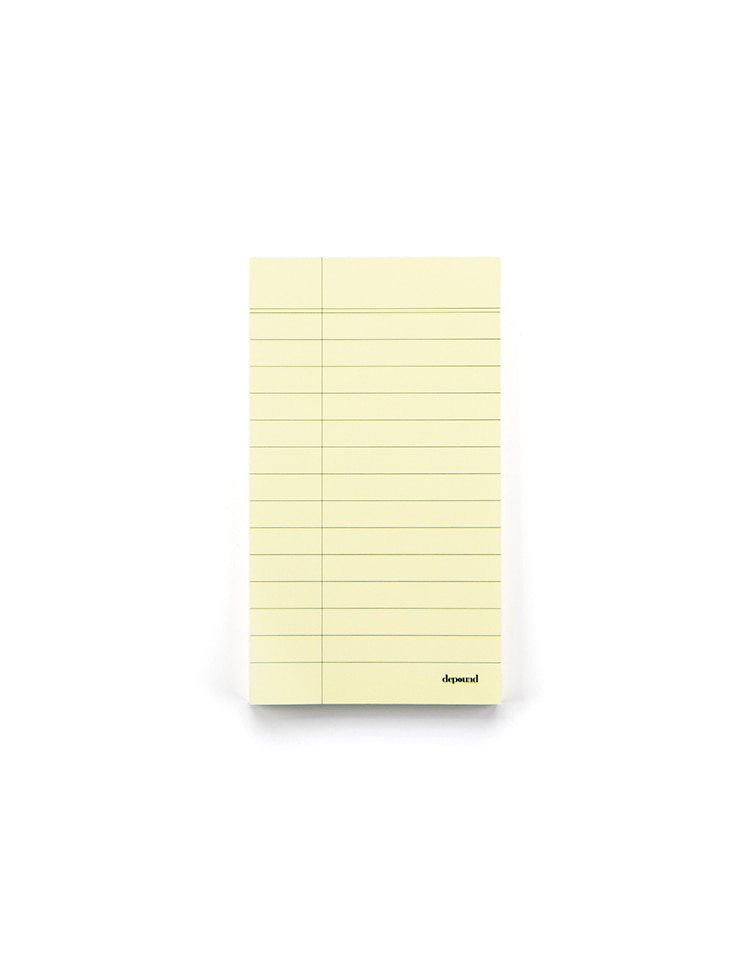 [homepage exclusive]memo pad (yellow)
