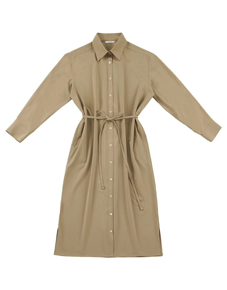 silky shirtdress (brown)