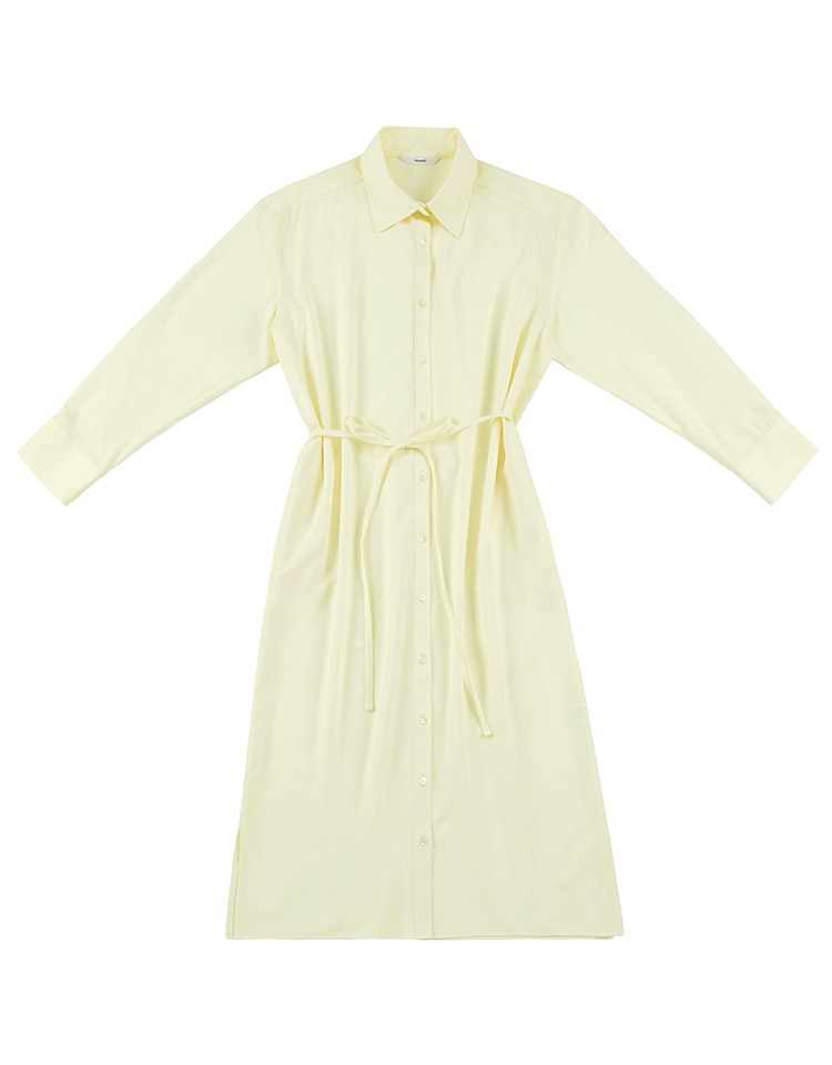 silky shirtdress (ivory)
