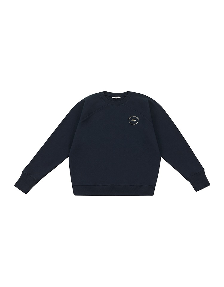 [BE MY D] logo sweatshirt (navy)