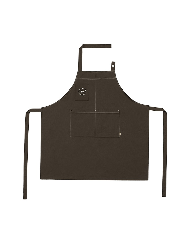 [BE MY D] stitch apron (brown)