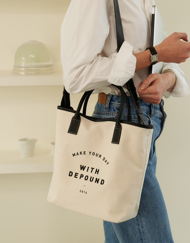 day bag (tote M) - black