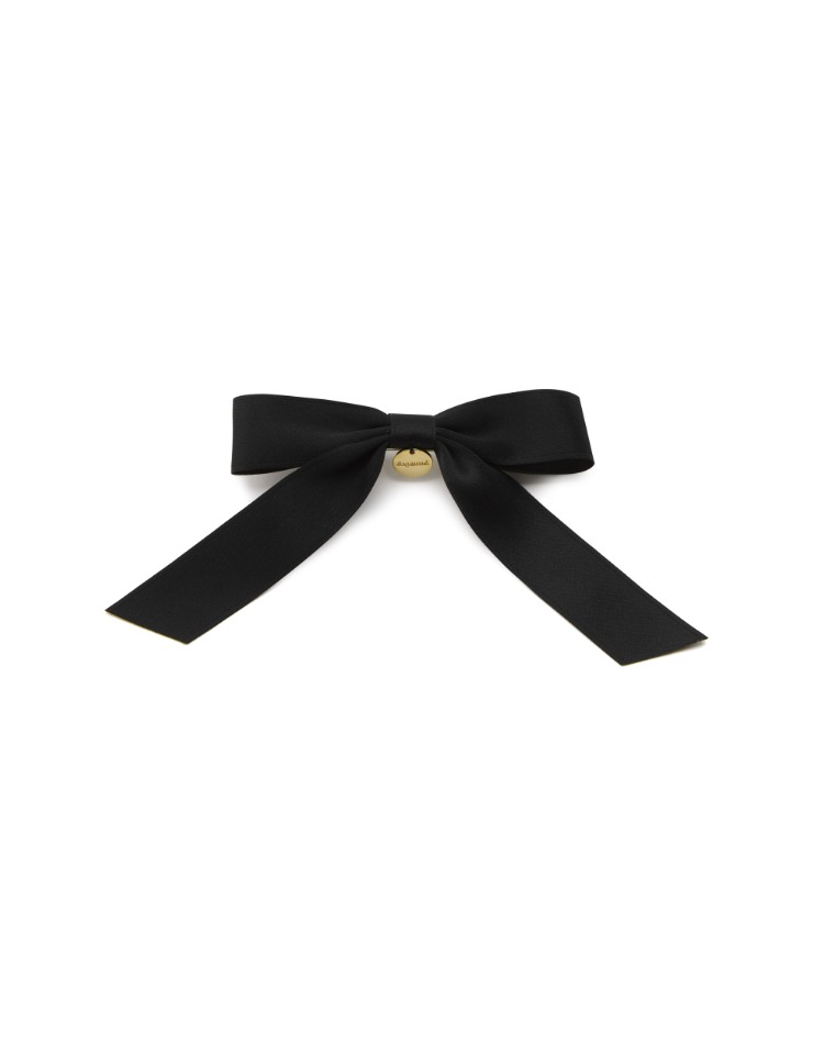 ribbon hair pin - black
