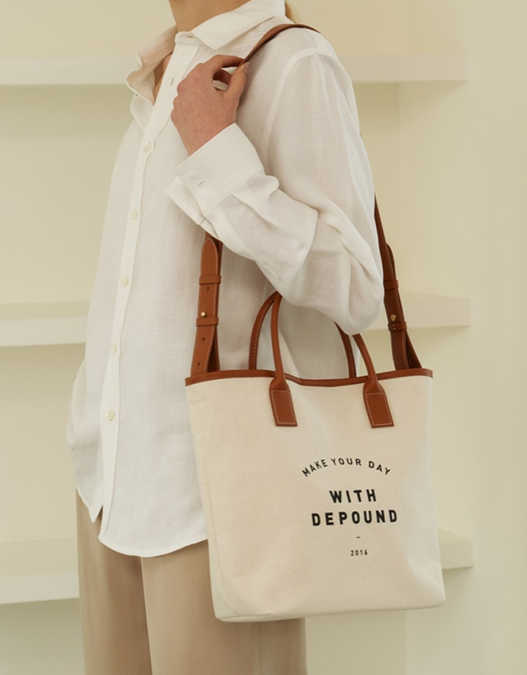 day bag (tote M) - camel